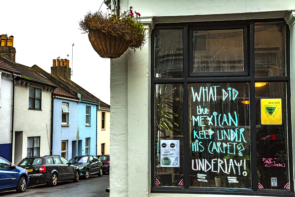 WHAT DID the MEXICAN KEEP UNDER HIS CARPET--Brighton