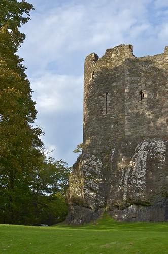 Dunstaffnage Castle built on a massive rock formation