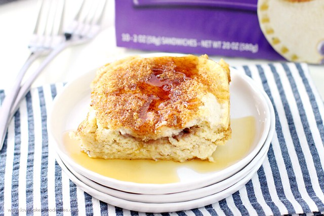 Take your PB&J to the next level with this Uncrustables Overnight French Toast! Breakfast never tasted so good.