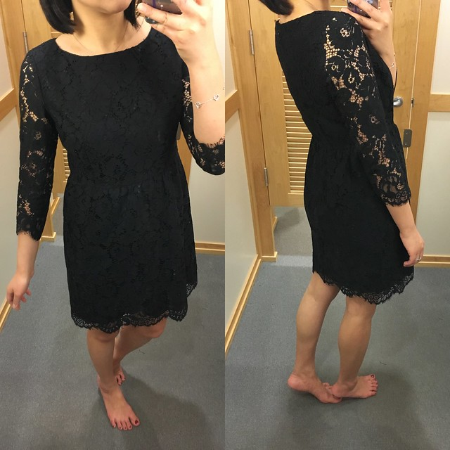 LOFT Scallop Lace Dress, size 0P