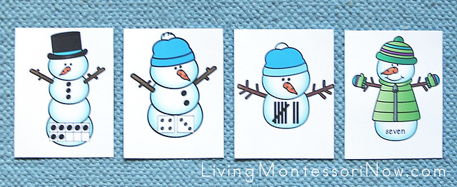 Number Snowman Hide & Seek Layout