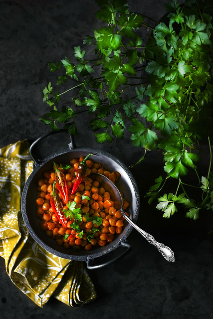 Curried Chickpeas. ছোলা/বুট ভুনা