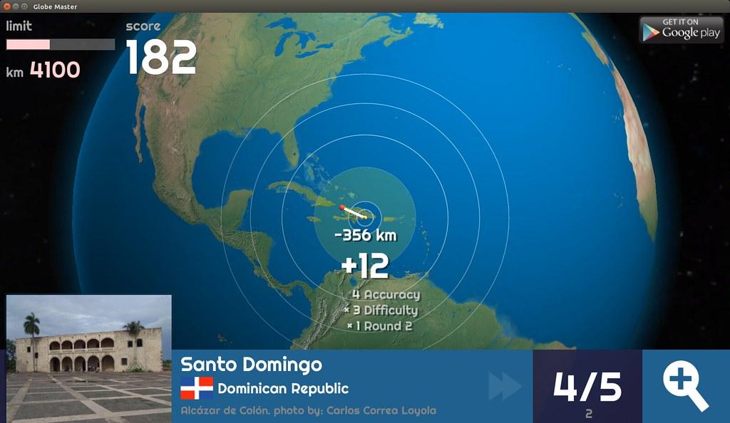 Globe Master 3D - Santo Domingo