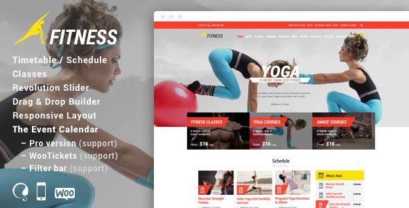 Themeforest Fitness Sport Gym v5.0 - Responsive Theme