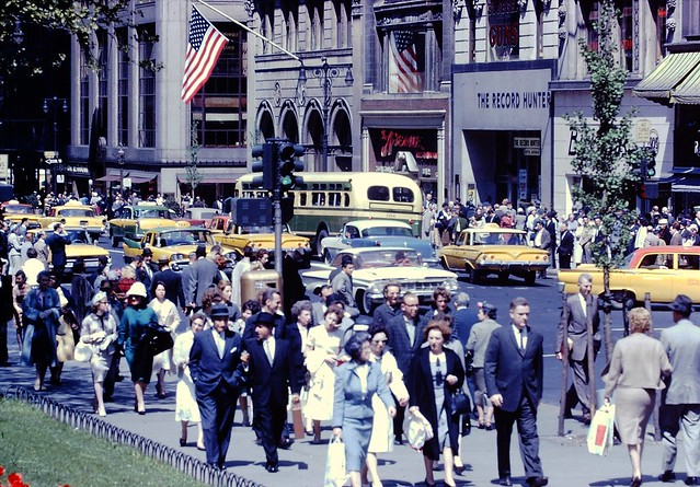 5th Avenue toward 42nd Street. 1961.