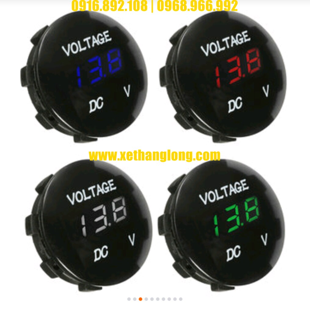 Đồng hồ đo bình ắc quy - Tròn