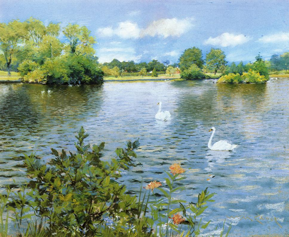 A Long Island Lake by William Merritt Chase, c.1890