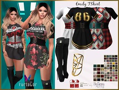 :kiss: NEW RELEASE :kiss:  Hud 40 textures for TShirt  Hud 15 textures for Belt  Hud 15 textures for Peep Toe Boots  ★Included Sizes  ★ Maitreya  ★Hourglass  ★Phsique  ★ Isis  ★ Venus  ★ Freya  ☮ ღ F u r t a C o r ღ☮  https://marketplace.secondlife.com/p/