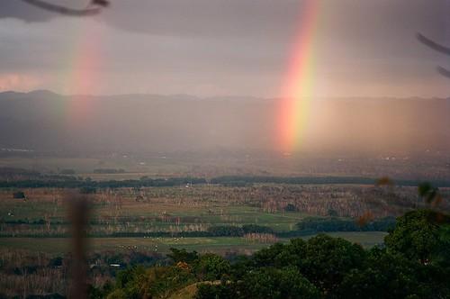 analogphotography ishootfilm puertorico travel 135 film analog landscape rainbow nikon105mmf25ai nikonf3hp kodakektar100 nikonlinearpolarizer
