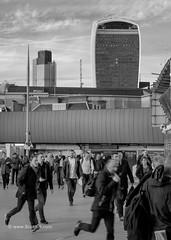 Hurrying home - London Bridge Station