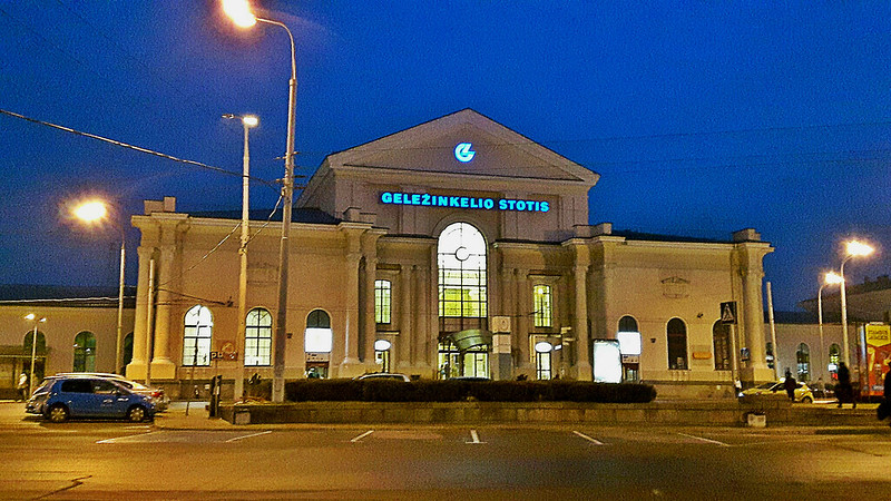 Central railway station in Vilnius, Lithuania. March 18, 2017