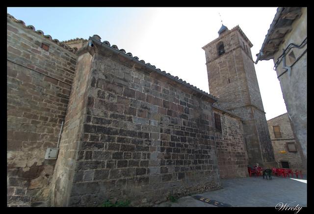 Berdún pueblos más fotografiados Pirineos - Iglesia parroquial de Santa Eulalia