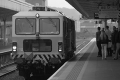 Track tamping machine, Cardiff Central