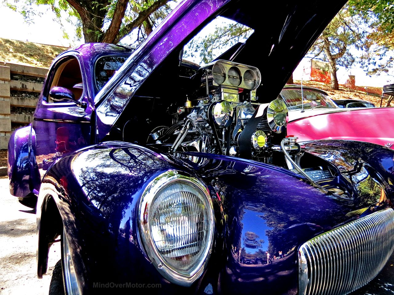 Purple Supercharged Lincoln Lead East