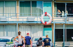 Visitors tour the Lorraine Motel, site of Dr. Martin Luther King's Assassination, in Memphis Tennessee