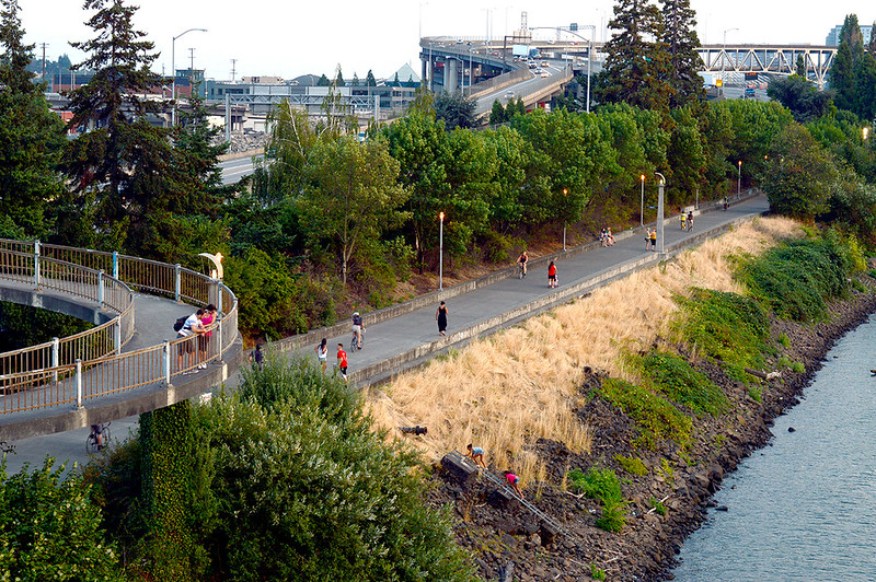 Movement along the Esplanade