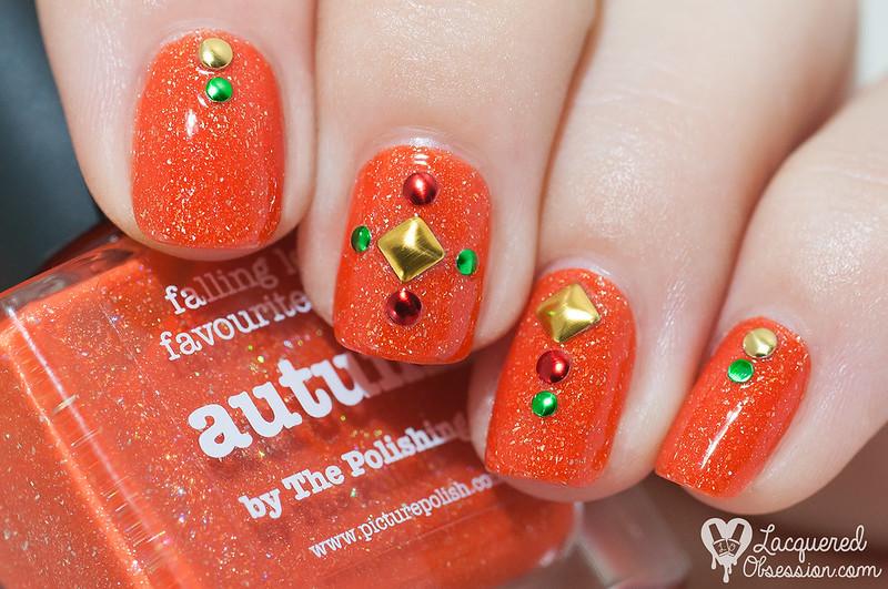 31DC2015 Day 02: Orange nails