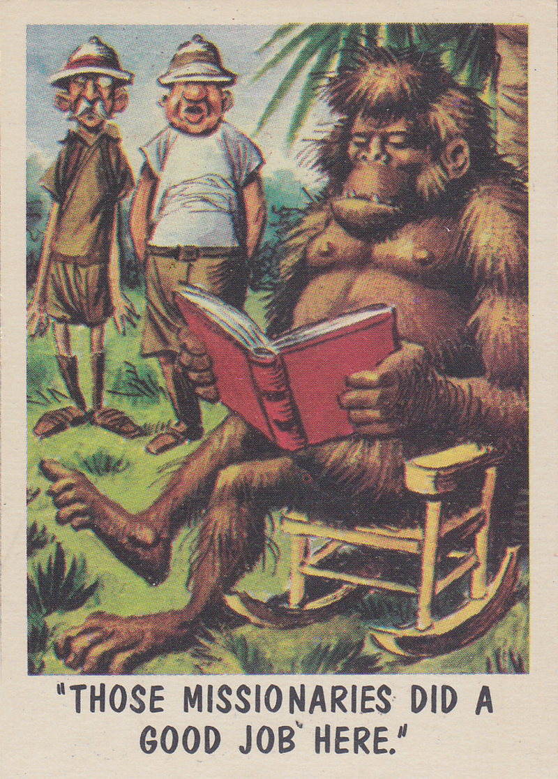 """""""You'll Die Laughing"""" Topps trading cards 1959,  illustrated by Jack Davis (45)"""