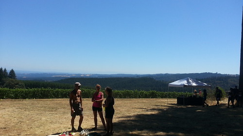 race day in the vineyards