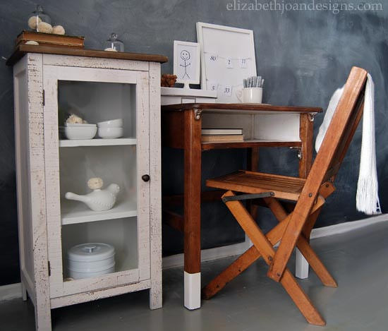 Paint Dipped Vintage Desk