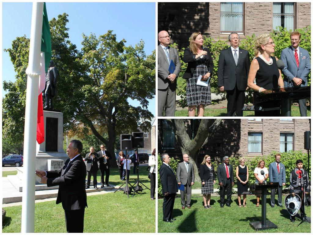 Izamiento de la Bandera Mexicana en el Parlamento Provincial de Ontario