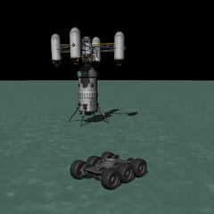 Shelly Skycrane w/ Hab Module Landed