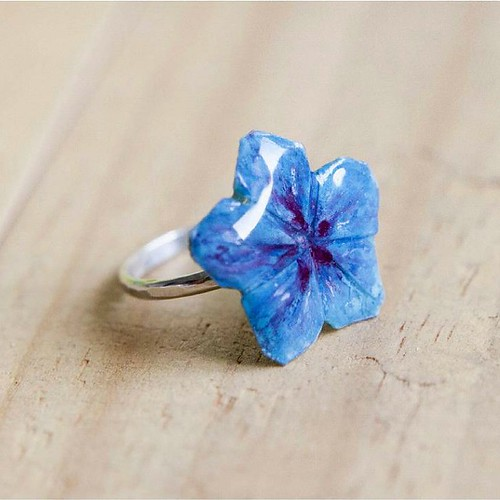 Recycled Paper Blossom Ring