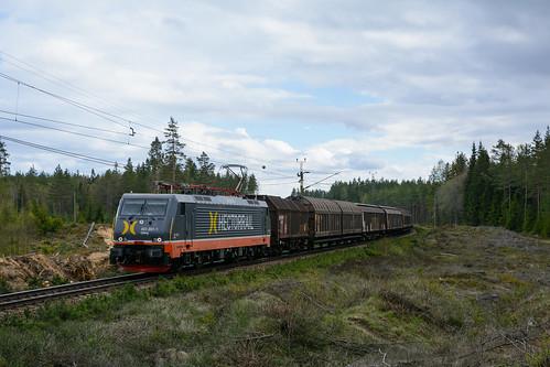railroad train se schweden siemens wolken eisenbahn rail railway zug cargo hector wald cargotrain güterzug privatbahn elok baureihe189 åsbro d7100 drehstrom örebrolän hectorrail es64 es64f4 nikond7100 n4fade 4410013 baureihe441 e474006sr