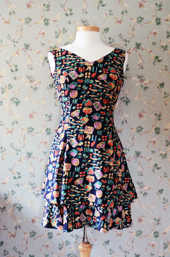 Vintage Farmers Market Dress