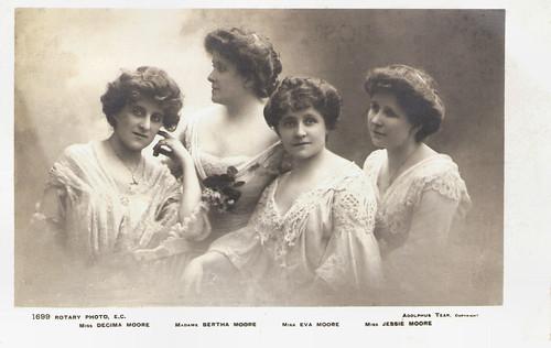 Eva Moore, Decima, Bertha and Jessie Moore