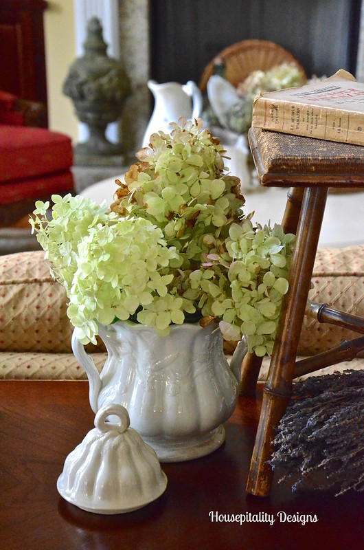 Ironstone sugar bowl and limelight hydrangeas - Housepitality Designs