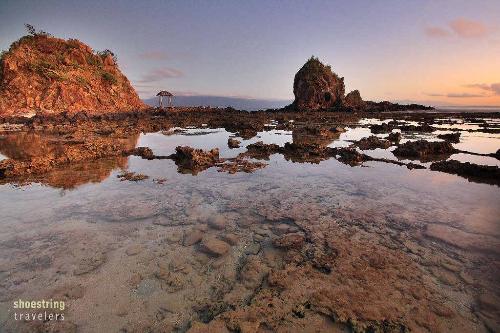 Lukso-Lukso Islets at sunrise, Diguisit Beach