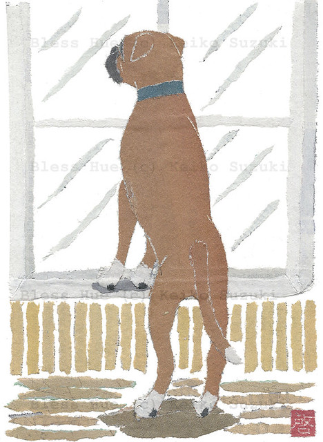 Paper Art Collage - Boxer