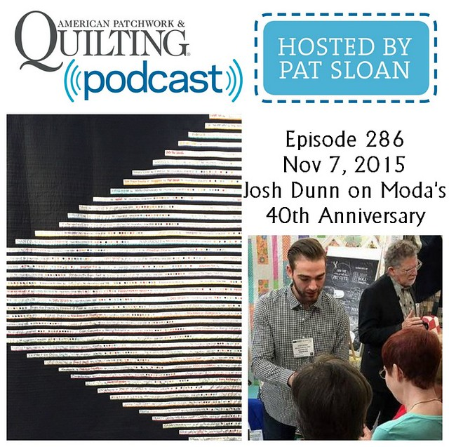 American Patchwork Quilting Pocast episode 285 Josh Dunn