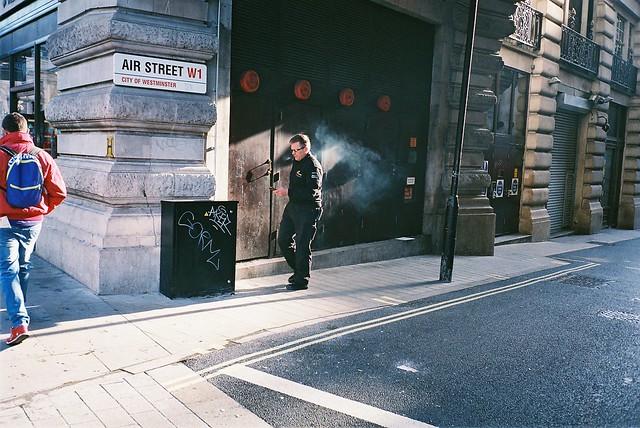 smoke in air street