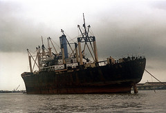 SAIGON 1973 - Cargo ship, Saigon river