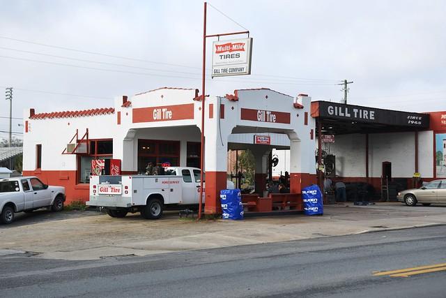 Florida, Live Oak, (former) Sinclair Gas Station