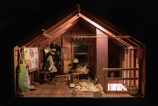 Nutshell Studies of Unexplained Death, Attic diorama