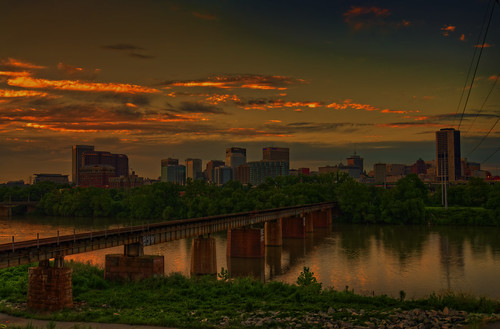 richmond virginia va skyline sunset jamesriver hdr highdynamicrange goldenhour dusk twilight colorful clouds sky art wall canvasprint framedprint acrylicprint metalprint woodprint greetingcard throwpillow duvetcover totebag showercurtain phonecase sale sell buy purchase gift craigfildes artist photographer photograph photo picture prints