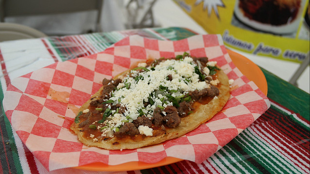 Huarache from Antojitos Mexicanos Taco Truck in Des Moines, Iowa