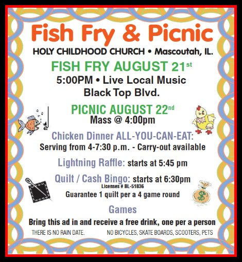 Holy Childhood Picnic 8-21, 8-22-15