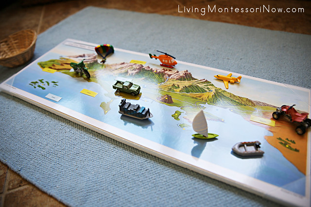 Montessori-Inspired Map Activities Using Pin-It! Maps