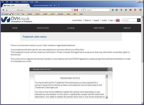domain disclaimer