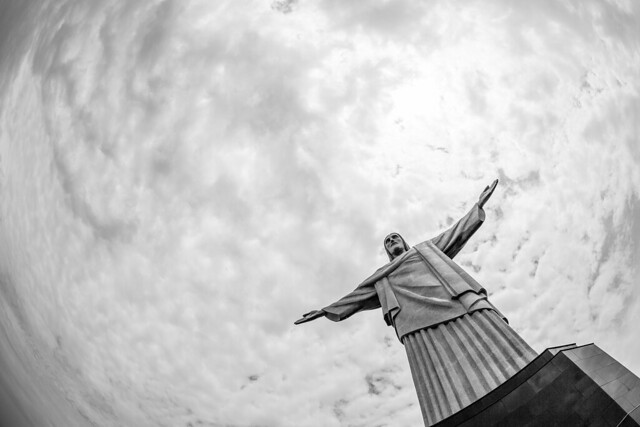 On Top of the World, Looking Up at Christ the Redeemer.