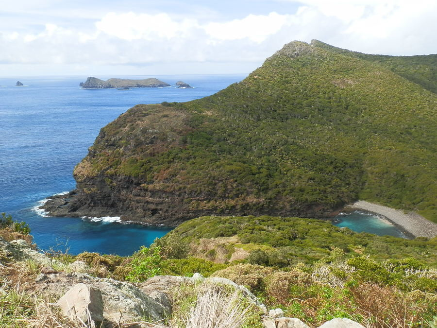 Old Gulch from Mt Eliza, North Bay, Lord Howe Island