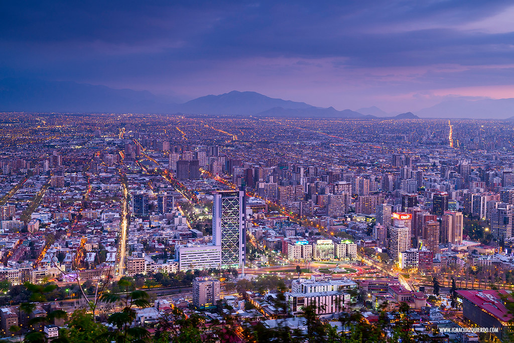 Sunset over Santiago de Chile 04