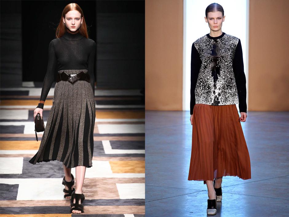 brown-pleated-skirt-fashion-runway
