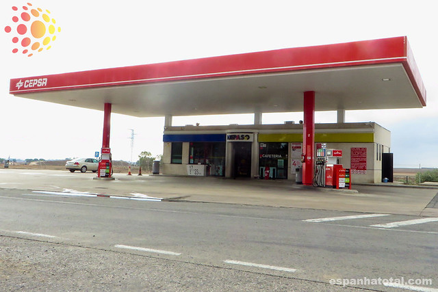 posto de combustível na Espanha