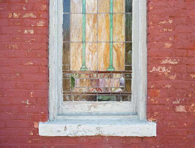 Stained Glass & Old Paint