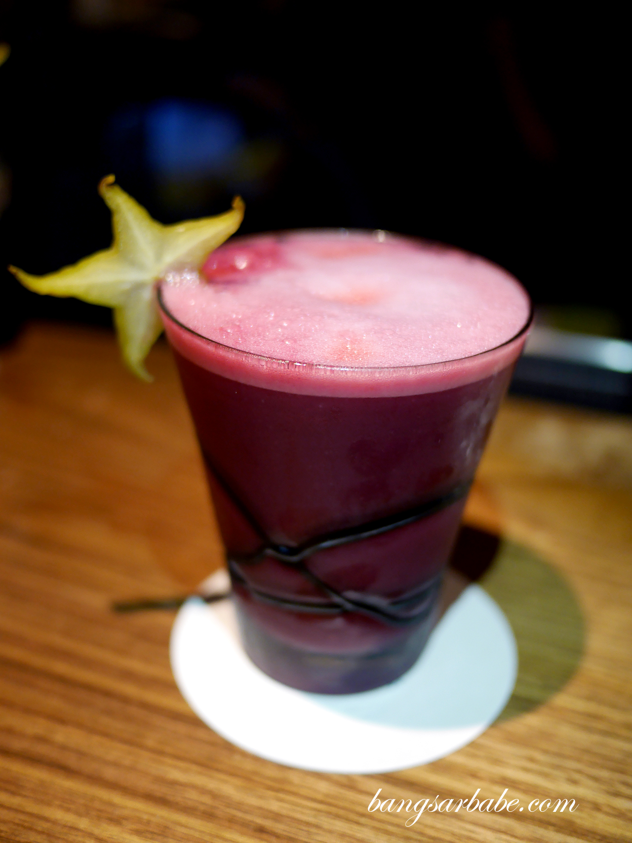 Pisco Sour with chicha morada
